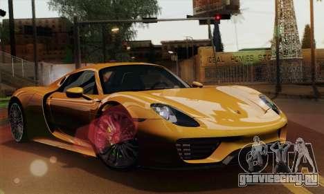 Porsche 918 Spyder 2013 для GTA San Andreas