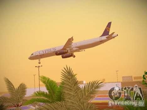 Airbus A321-232 Cyprus Airways для GTA San Andreas вид снизу