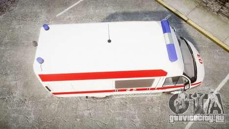ГАЗ-32214 Скорая помощь для GTA 4 вид справа