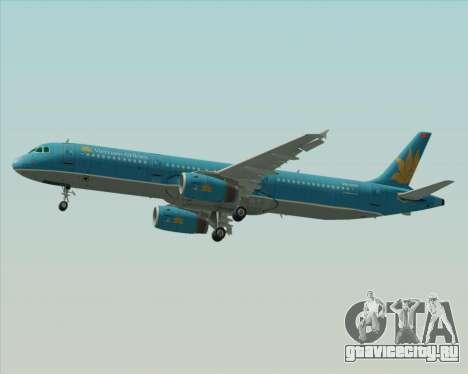 Airbus A321-200 Vietnam Airlines для GTA San Andreas вид сбоку