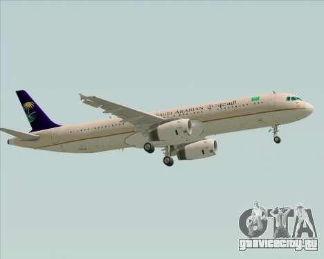 Airbus A321-200 Saudi Arabian Airlines для GTA San Andreas вид сзади