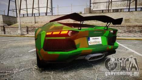 Lamborghini Aventador LP760-4 Camo Edition для GTA 4 вид сзади слева