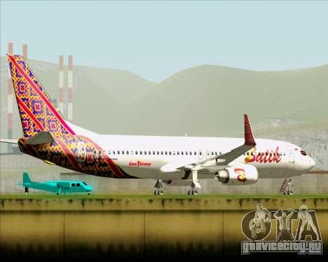 Boeing 737-800 Batik Air для GTA San Andreas вид сверху