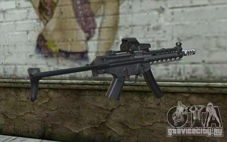 Silver MP5 для GTA San Andreas второй скриншот