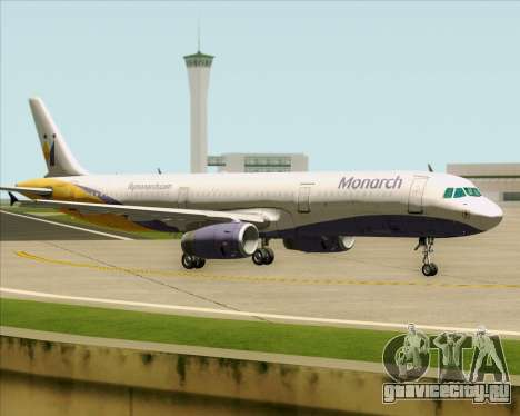 Airbus A321-200 Monarch Airlines для GTA San Andreas вид сзади