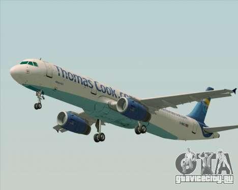 Airbus A321-200 Thomas Cook Airlines для GTA San Andreas вид изнутри