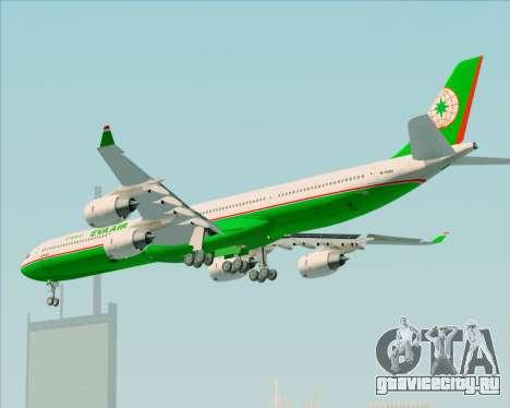 Airbus A340-600 EVA Air для GTA San Andreas вид сзади
