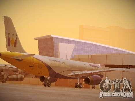 Airbus A321-232 Monarch Airlines для GTA San Andreas вид справа