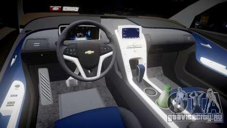Chevrolet Volt 2011 v1.01 rims2 для GTA 4 вид изнутри
