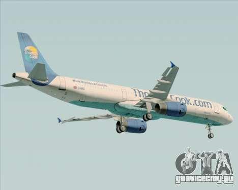 Airbus A321-200 Thomas Cook Airlines для GTA San Andreas вид сзади