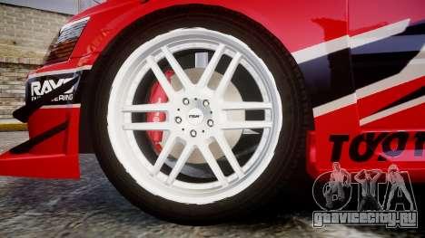 Mitsubishi Lancer Evolution IX Fast and Furious для GTA 4 вид сзади