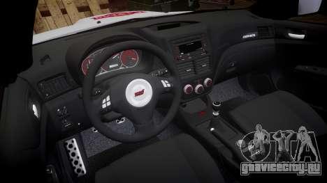 Subaru Impreza Cosworth STI CS400 2010 Custom для GTA 4 вид сзади