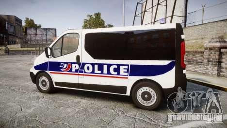 Renault Trafic Police Nationale для GTA 4 вид слева