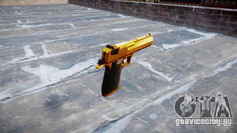 Пистолет IMI Desert Eagle Mk XIX Gold для GTA 4 второй скриншот