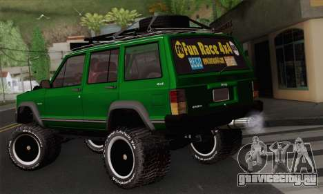 Jeep Cherokee 1998 Off Road 4x4 для GTA San Andreas вид слева