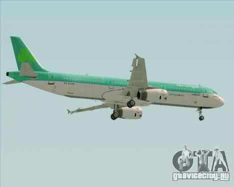 Airbus A321-200 Aer Lingus для GTA San Andreas вид сверху