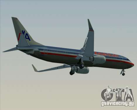 Boeing 737-800 American Airlines для GTA San Andreas двигатель