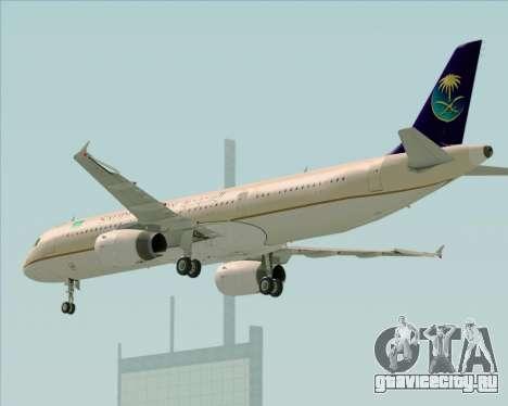 Airbus A321-200 Saudi Arabian Airlines для GTA San Andreas вид справа