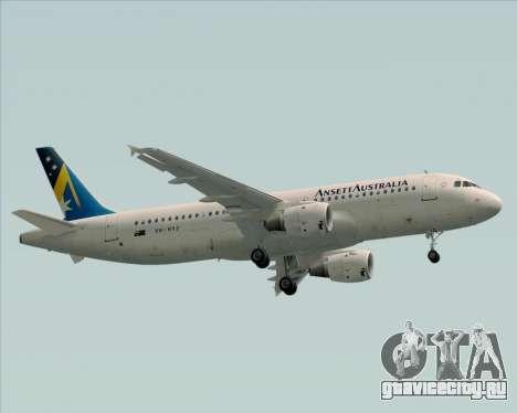Airbus A320-200 Ansett Australia для GTA San Andreas вид сбоку