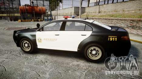GTA V Vapid Interceptor LSS Black [ELS] для GTA 4 вид слева