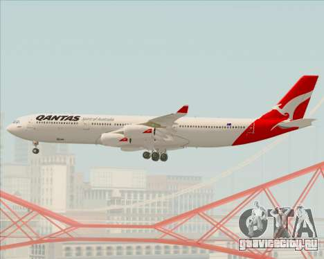 Airbus A340-300 Qantas для GTA San Andreas вид сверху
