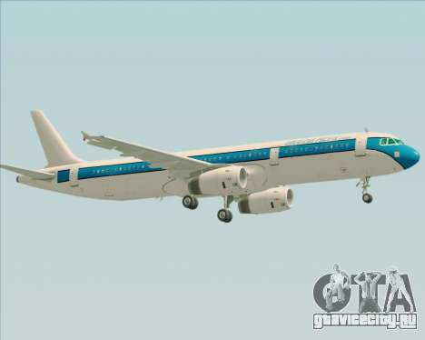 Airbus A321-200 American Pacific Airways для GTA San Andreas вид снизу