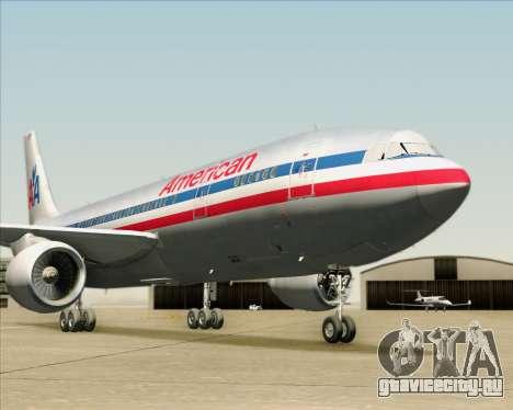 Airbus A300-600 American Airlines для GTA San Andreas двигатель