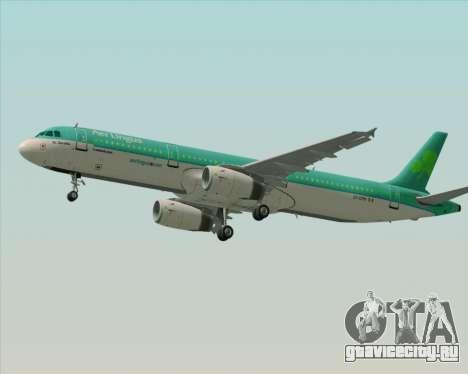 Airbus A321-200 Aer Lingus для GTA San Andreas двигатель