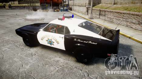 Shelby GT500 428CJ CobraJet 1969 Police для GTA 4 вид слева