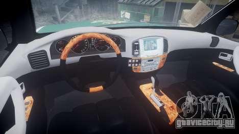 Toyota Land Cruiser Guardia Civil Cops [ELS] для GTA 4 вид сзади