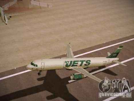 Airbus A321-232 jetBlue NYJets для GTA San Andreas колёса