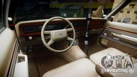 Ford LTD Crown Victoria 1987 Police CHP1 [ELS] для GTA 4 вид сзади