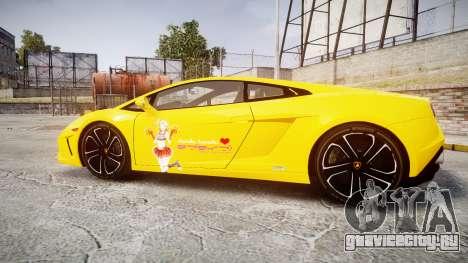 Lamborghini Gallardo 2013 Honoka Kousaka для GTA 4 вид слева