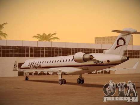 Bombardier CRJ-700 Horizon Air для GTA San Andreas вид снизу