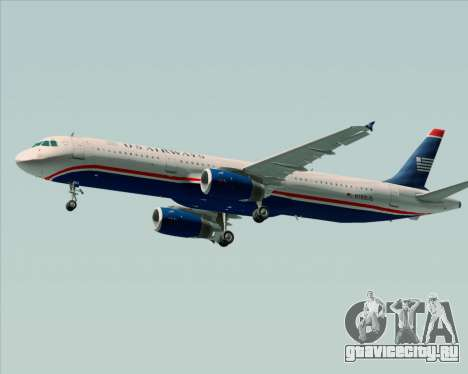 Airbus A321-200 US Airways для GTA San Andreas вид сбоку