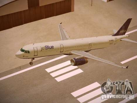 Airbus A321-232 jetBlue Batty Blue для GTA San Andreas вид сверху