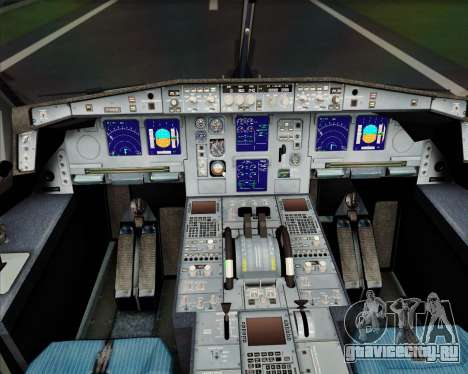 Airbus A340-600 EVA Air для GTA San Andreas салон
