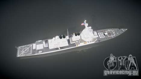 US Navy Destroyer Arleigh Burke для GTA 4 вид справа