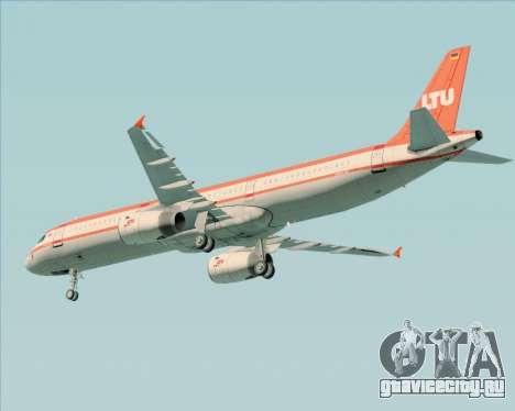 Airbus A321-200 LTU International для GTA San Andreas вид изнутри