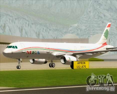 Airbus A321-200 Middle East Airlines (MEA) для GTA San Andreas вид сверху
