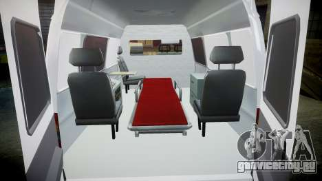 ГАЗ-32214 Скорая помощь для GTA 4 вид изнутри