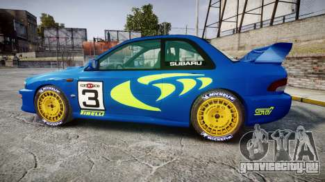 Subaru Impreza WRC 1998 World Rally v3.0 Green для GTA 4 вид слева