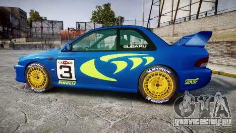 Subaru Impreza WRC 1998 World Rally v3.0 Green для GTA 4 вид слева