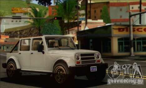 Canis Mesa для GTA San Andreas вид сзади слева
