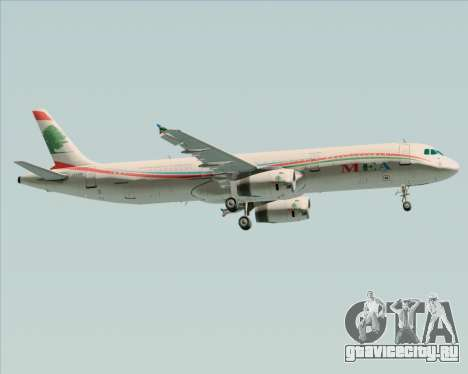 Airbus A321-200 Middle East Airlines (MEA) для GTA San Andreas вид справа