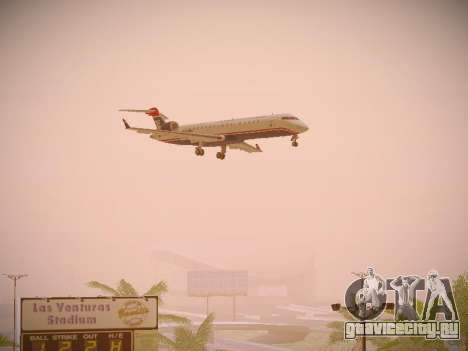 Bombardier CRJ-700 US Airways Express для GTA San Andreas вид сзади