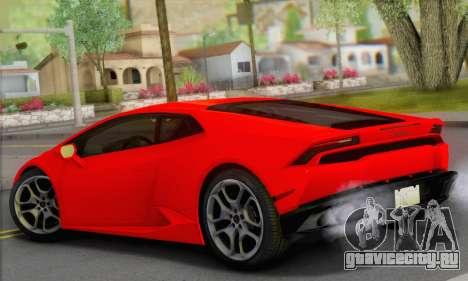Lamborghini Huracan 2014 Type 2 для GTA San Andreas вид слева