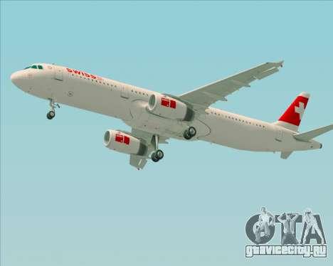 Airbus A321-200 Swiss International Air Lines для GTA San Andreas вид снизу