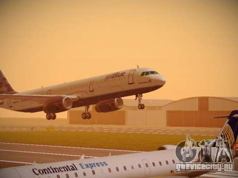Airbus A321-232 jetBlue Do-be-do-be-blue для GTA San Andreas вид слева