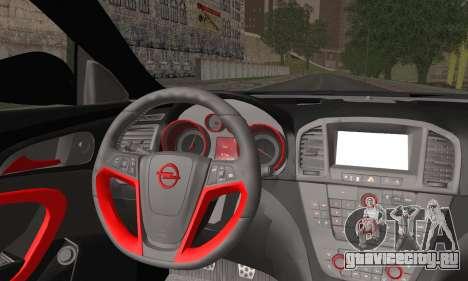 Opel Insignia для GTA San Andreas вид сзади слева